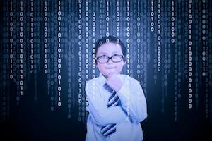 Boy computer code