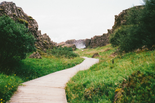 Hiking-path-way